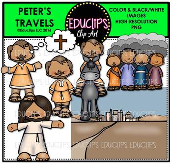 Bible Stories - Peter's Travels Clip Art Bundle {Educlips Clipart}