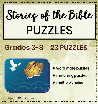 Stories of the Bible Puzzle Collection- 23 Unique Stories in the Bible Puzzles