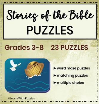 Stories of the Bible Puzzle Collection- 23 Unique Stories in the Bible Puzzles