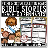 Bible Stories Lessons Teach-GO Pennants
