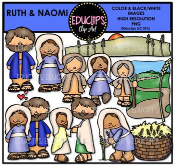 Bible Stories - Ruth & Naomi Clip Art Bundle {Educlips Clipart}