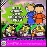 Bible Stories STEM Challenge BUNDLE Volume 2 (Bible STEM Activities BUNDLE)