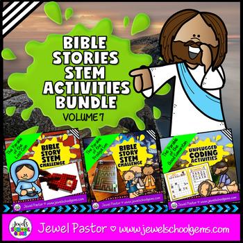 Bible Stories STEM Challenge BUNDLE Volume 7 (Bible STEM Activities BUNDLE)