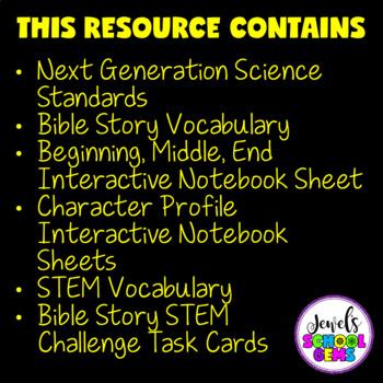 Bible Stories STEM Challenge (David's Harp Bible STEM Activities)