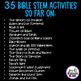 Bible Stories STEM Challenges GROWING BUNDLE (Bible STEM Activities)