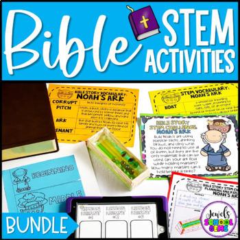 Distance Learning Bible Stories STEM Challenges BUNDLE (Bible STEM Activities)