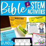 Distance Learning Bible Stories STEM Challenges BUNDLE (Bi