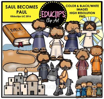 Bible Stories - Saul Becomes Paul Clip Art Bundle {Educlips Clipart}