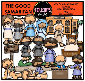 Bible Stories - The Good Samaritan Clip Art Bundle {Educli