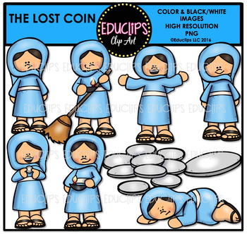 Bible Stories - The Lost Coin Clip Art Bundle {Educlips Clipart}