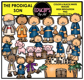 Bible Stories - The Prodigal Son Clip Art Bundle {Educlips Clipart}