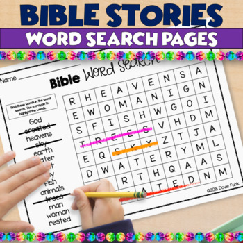 Bible Stories Word Search Puzzles