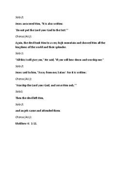 Bible Story Activities:  Jesus Resists Temptation