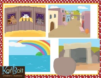 Bible Story Clip Art Bundle