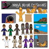 Bible Story Clip Art- Daniel, Shadrach, Meshach, Abednego-