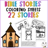 Bible Story Coloring Pages | Catholic Lesson Plan | Bulletin Board Idea