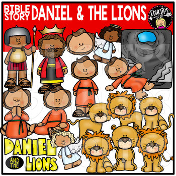 Bible Story - Daniel and the Lions Clip Art Set {Educlips Clipart}