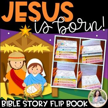 Bible Story Flip Book: Jesus Is Born! {Print, Fold, Staple, Done}