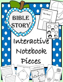 Bible Story Interactive Notebook Pieces