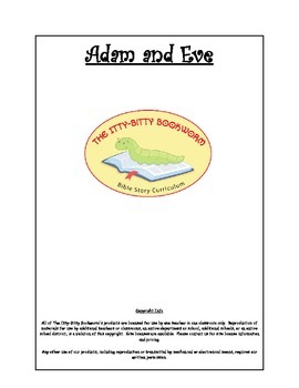 Bible Story Mini-Unit:  Adam and Eve