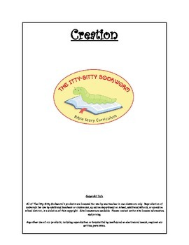 Bible Story Mini-Unit:  Creation