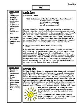 Bible Story Mini-Unit:  Creation