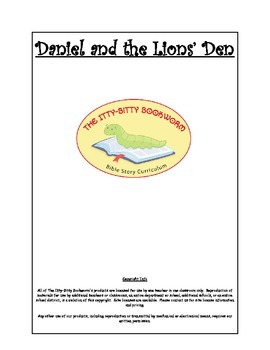 Bible Story Mini-Unit:  Daniel and the Lions