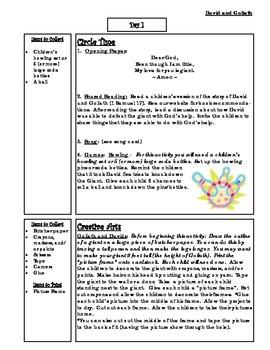 Bible Story Mini-Unit:  David and Goliath