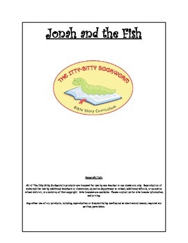 Bible Story Mini-Unit:  Jonah and the Fish