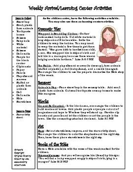 Bible Story Mini-Unit:  The Christmas Story