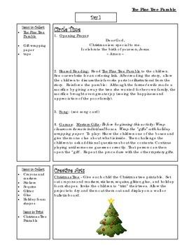 Bible Story Mini-Unit:  The Pine Tree Parable