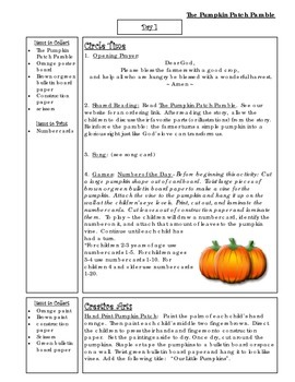 image regarding Pumpkin Patch Parable Printable named Bible Tale Mini-Device: The Pumpkin Patch Parable