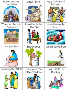 bible story for preschoolers bible story picture cards by honeybelles teachers pay 813