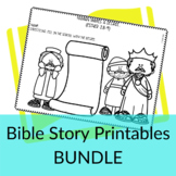 Bible Story Printable Activities GROWING BUNDLE for Sunday
