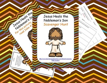 Bible Story Scavenger Hunt - Jesus Heals the Nobleman's Son