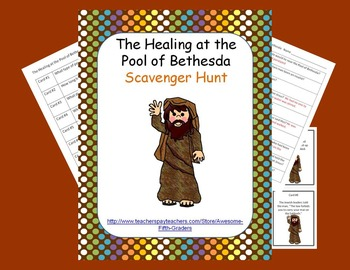 Bible Story Scavenger Hunt - Healing at the Pool of Bethesda