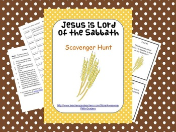 Bible Story Scavenger Hunt - Jesus is Lord of the Sabbath