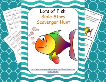 Bible Story Scavenger Hunt - Lots of Fish!