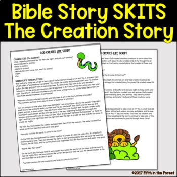 Bible Story Skit FREEBIE-God's Creation