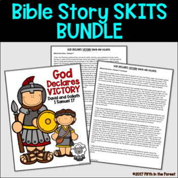 Bible Story Skit GROWING BUNDLE! (21 Bible stories for young learners)