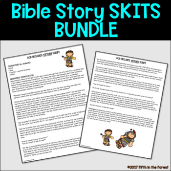 Bible Story Skit BUNDLE 21 Bible stories for young learners