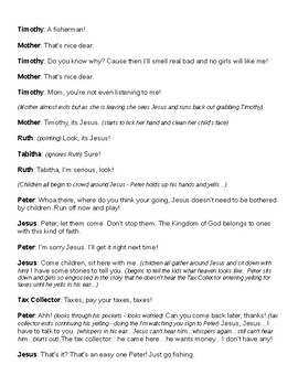 Bible Story Skit: Jesus and the Children/A Fish Story