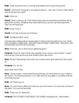 Bible Story Skit: Ruth