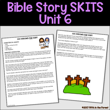 Bible Story Skits Unit 6 EASTER Betrayal Crucifixion and Resurrection