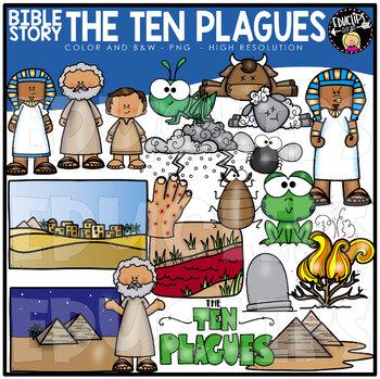 Bible Story - The Ten Plagues Clip Art Set {Educlips Clipart}