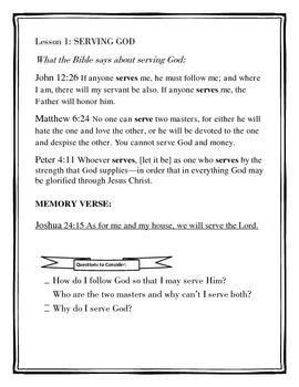Bible Study Lessons-Homeschool, Vacation Bible School, Sunday School