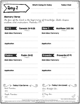 Bible Study Notebook - Read the Bible In a Year