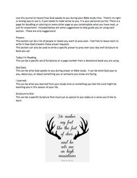 Bible Study Prayer Journal