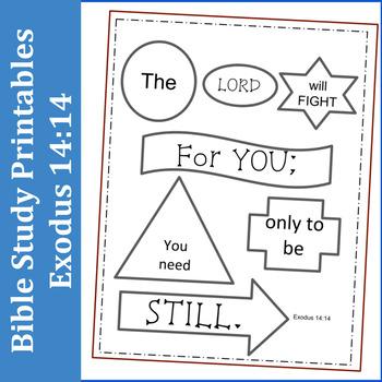 Bible Study Printables: Exodus 14:14
