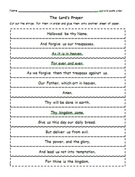 Bible Study - The Lord's Prayer